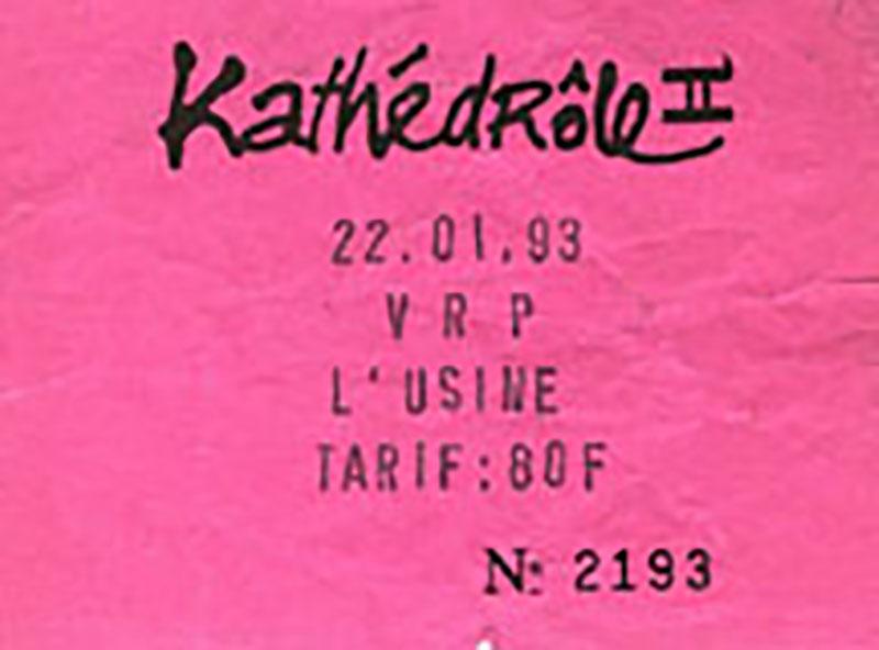 """22 janvier 1993 VRP à Reims """"L'usine"""""""