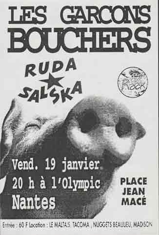 "19 janvier 1994 Garçons Bouchers, Ruda salska à Nantes ""Olympic"""