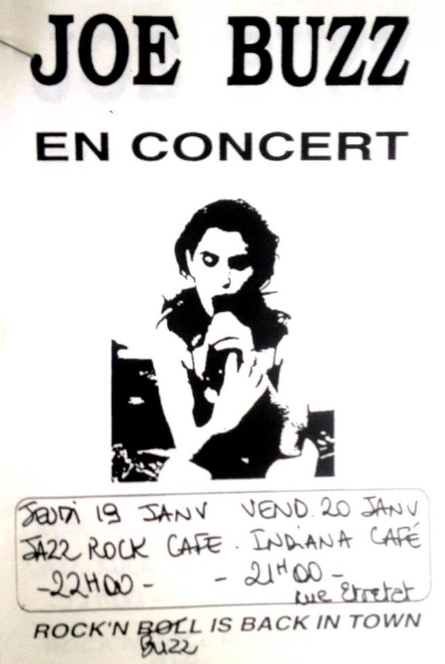 "19 janvier 1995 Joe Buzz au Havre ""Jazz Rock Cafe"""