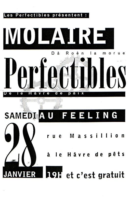 "28 janvier 1995 Molaire, Perfectibles au Havre ""Feeling"""