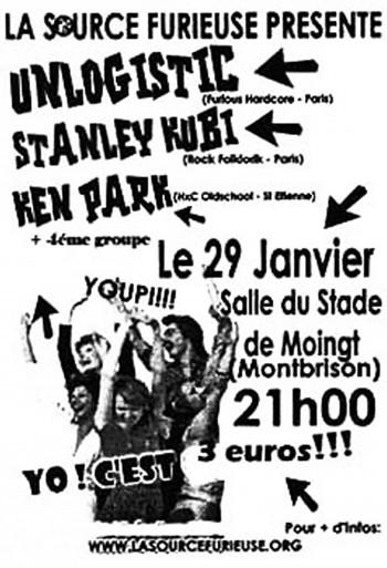 """29 janvier 2005 Unlogistic, Stanley Kubi, Ken Park à Montbrison """"Salle Monplaisir"""""""