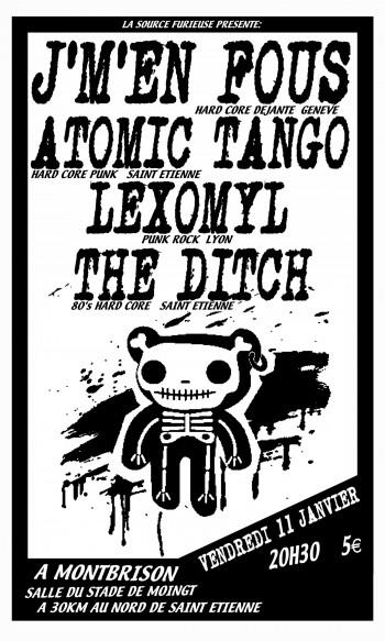 """11 janvier 2008 Atomic Tango, J'm'en fous, Lexomyl, The Ditch à Moingt """"Salle du Stade"""""""