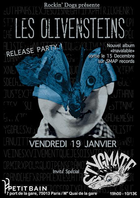 "19 janvier 2019 Olivenstein, Stygmate à Paris ""Petit Bain"""