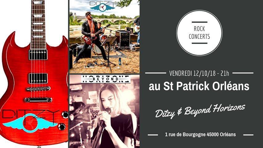 """12 octobre 2018 Ditzy, Beyond Horizons à Orléans """"Saint Patrick"""""""