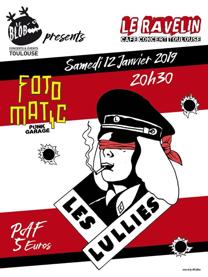 """12 janvier 2019 les Lullies, Fotomatic à Toulouse """"le Ravelin"""""""