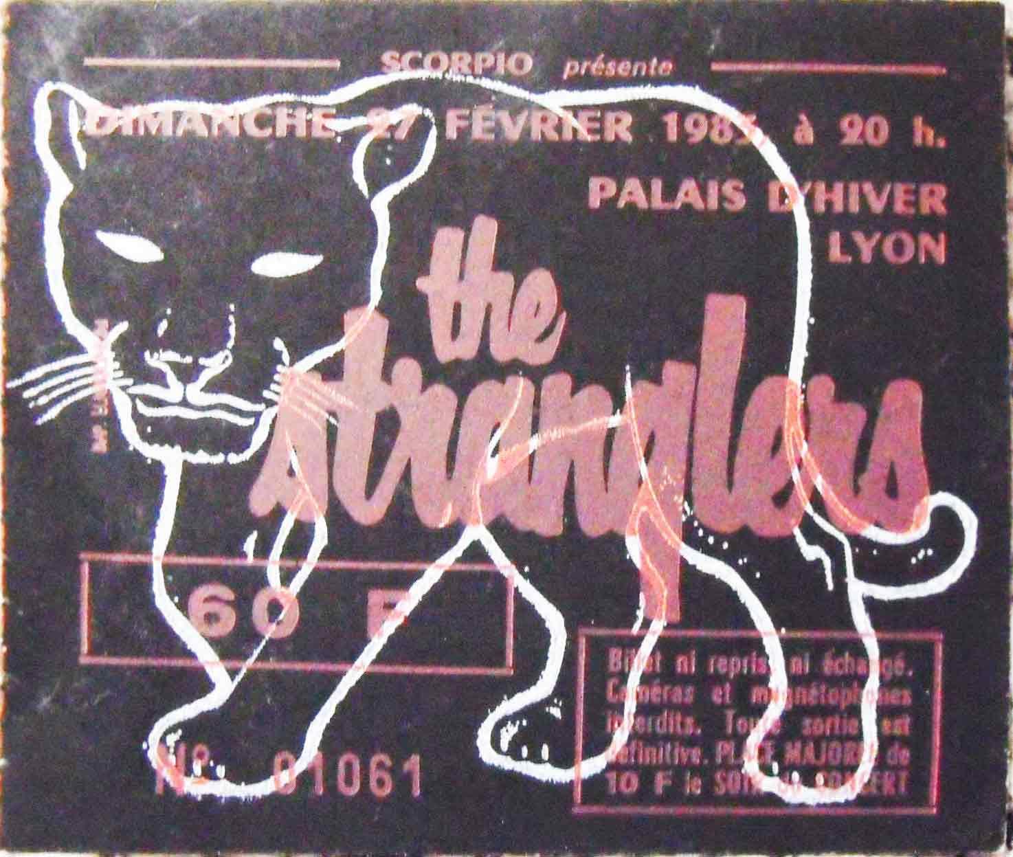 """27 février 1983 The Stranglers à Lyon """"Palais d'Hiver"""""""