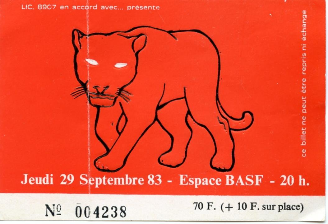 """29 septembre 1983 Stranglers à Paris """"Espace BASF"""""""
