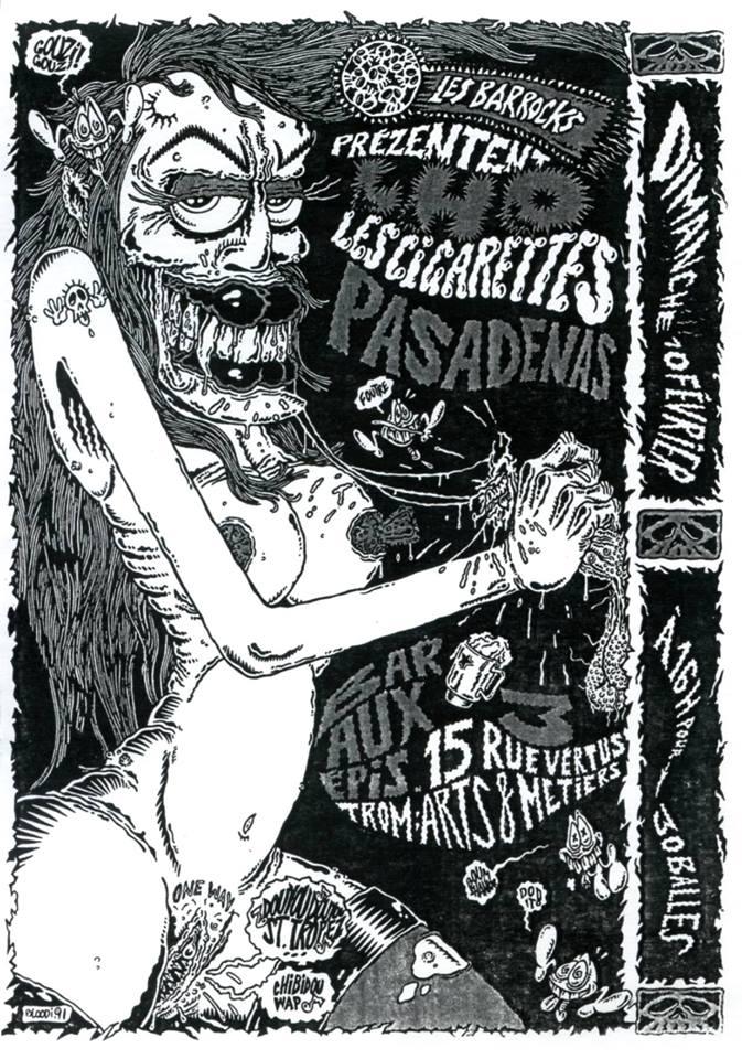 """10 fevrier 1991 Pasadenas, les Cigarettes à Paris """"3 Epis"""""""