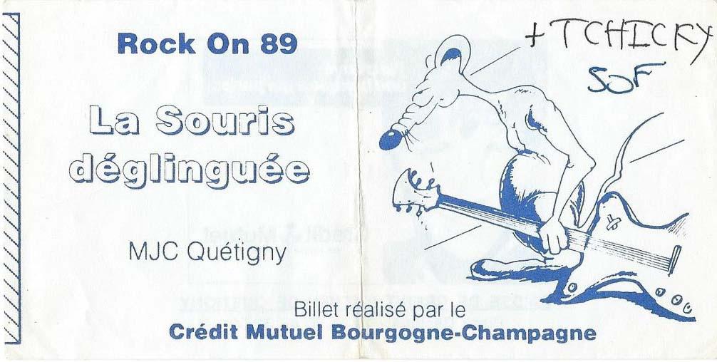 """1989 La Souris Deglinguée, Tchiky à Quetigny """"MJC"""""""