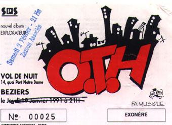 """2 février 1991 OTH à Béziers """"Vol De Nuit"""""""
