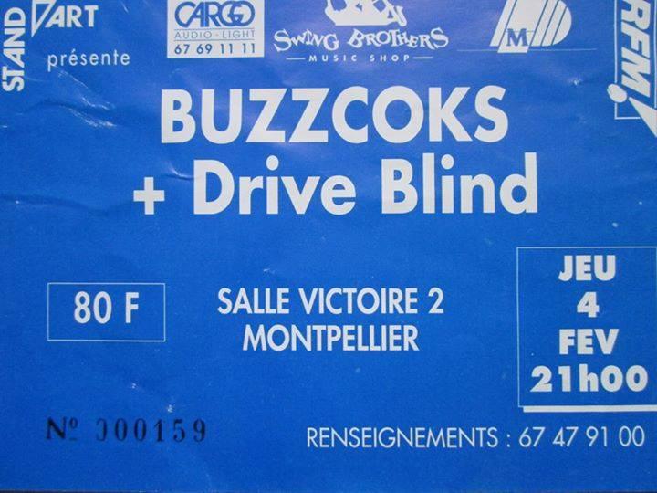 """4 fevrier 1993 Buzzcocks, Drive Blind à Montpellier """"Salle Victoire 2"""""""