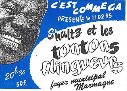 """11 février 1995 Schultz et les Tontons Flingueurs à Marmagne """"Foyer Municipal"""""""