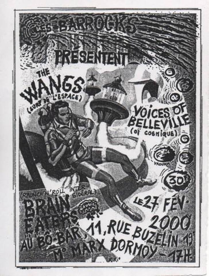 """27 fevrier 2000 The Wangs, Voices Of Belleville, Brain Eaters à Paris """"Bo-bar"""""""