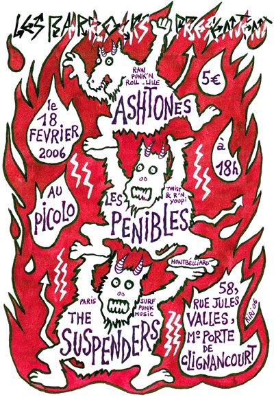 """18 février 2006 The Ashtones, les Penibles, The Suspenders à Saint Ouen """"le Picolo"""""""
