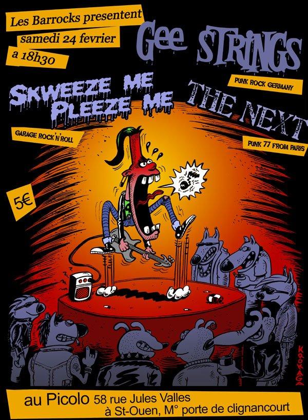 """24 fevrier 2007 Gee Strings, Skweeze Me Pleeze Me, The Next à Saint Ouen """"Picolo"""""""