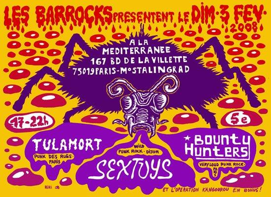 "3 fevrier 2008 Tulamort, Bounty Hunters, Sextoys à Paris ""la Mediteranee"""