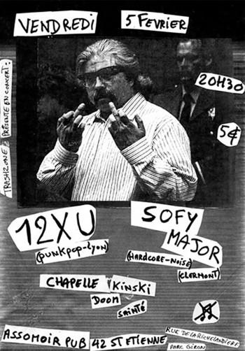 "5 février 2010 12XU, Sofy Major, Chapelle Kinski à St-Etienne ""L'Assommoir"""