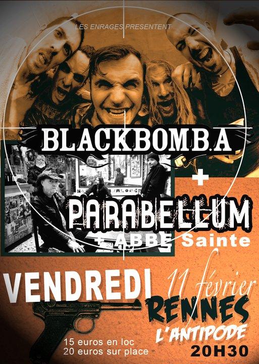 "11 février 2011 Black Bomb A, Parabellum à Rennes ""l'Antidote"""