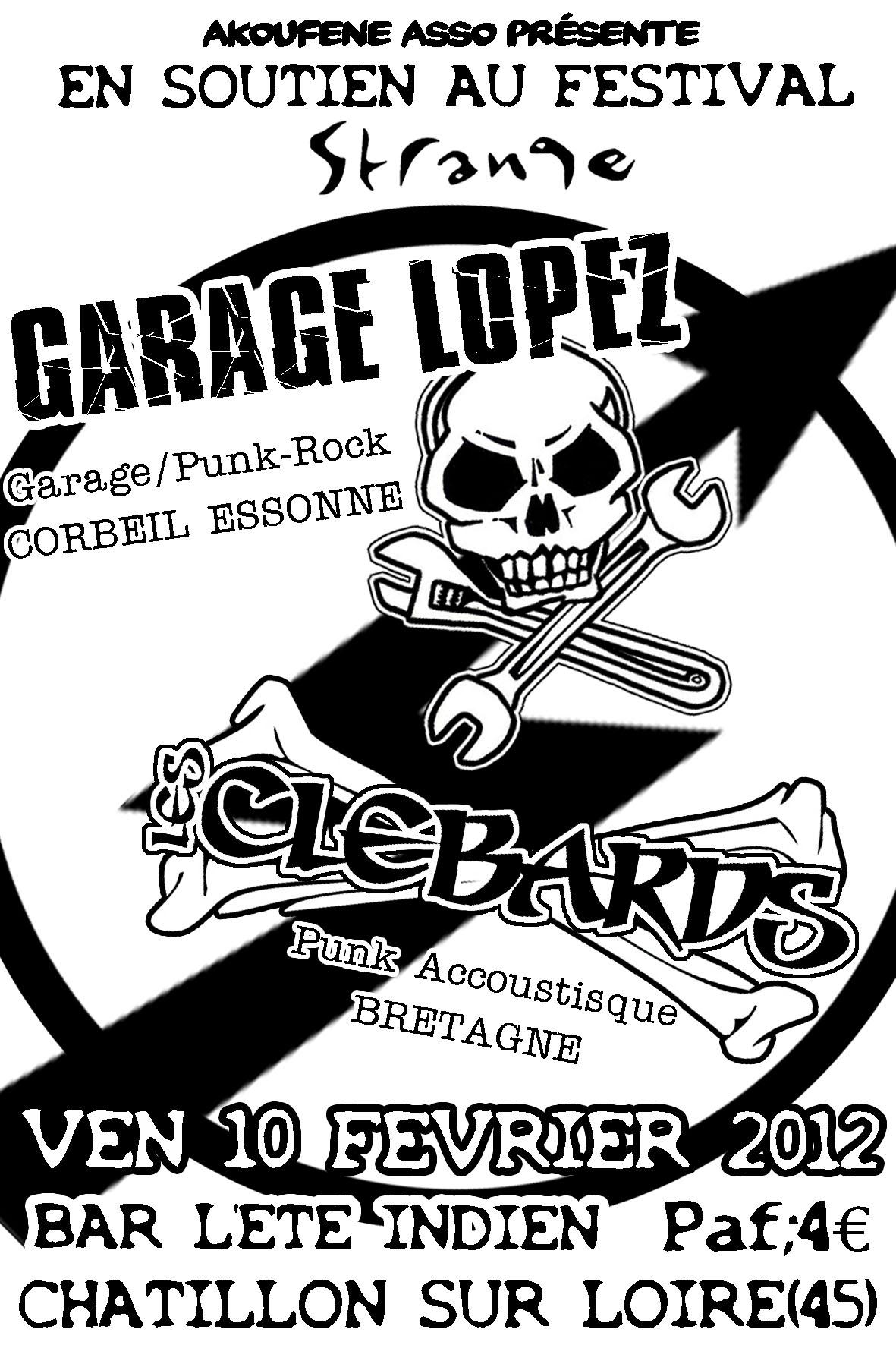 """10 fevrier 2012 Garage Lopez, les Clebards à Chatillon Sur Loire """"L'été Indien"""""""
