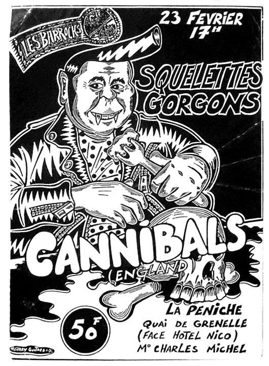 """23 février ???? Cannibals, Squelettes Gorgons à Paris """"Peniche"""""""