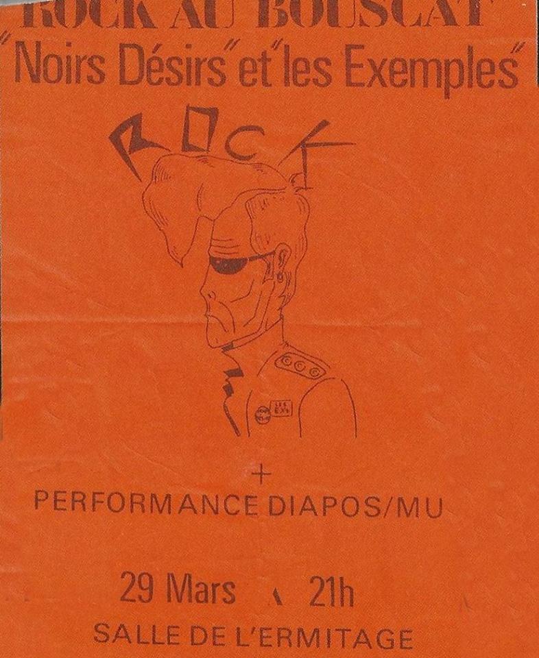 """29 mars 1985 Noir Desir, les Exemples au Bouscat """"Salle Ermitage"""""""