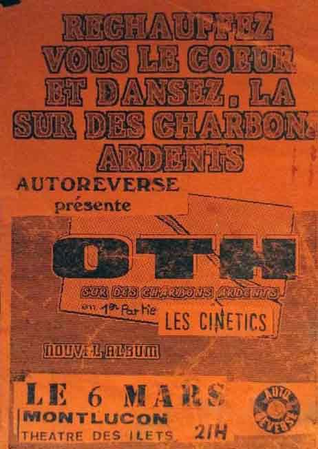 """6 mars 1986 (?) OTH, les Cinetics à Montlucon """"Theatre Des Ilets"""""""