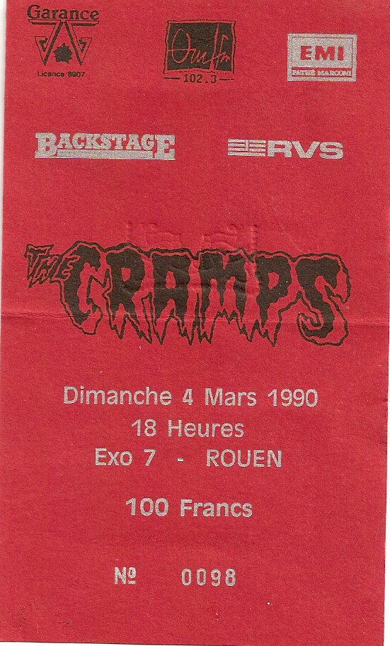 "4 mars 1990 The Cramps à Petit Quevilly ""Exo 7"""