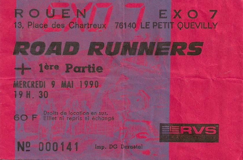"""9 mai 1990 Roadrunners à Petit Quevilly """"Exo 7"""""""