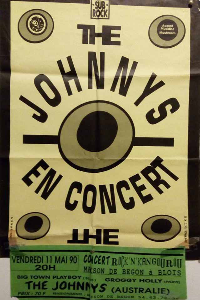 11 mai 1990 The Johnnys, Groggy Holly, Big Town Play Boy à Blois 'Maison Begon""