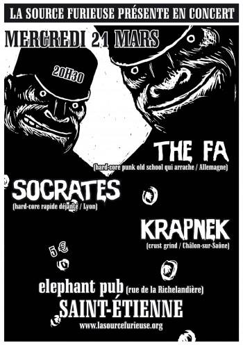 """21 mars 2007 The FA, Krapnek, Socrates à Saint-Etienne """"Elephant Pub"""""""