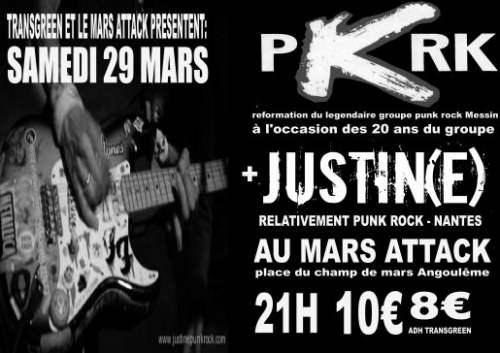 "29 mars 2008 PKRK, Justin(e) à Angouleme ""Au Mars Attack"""