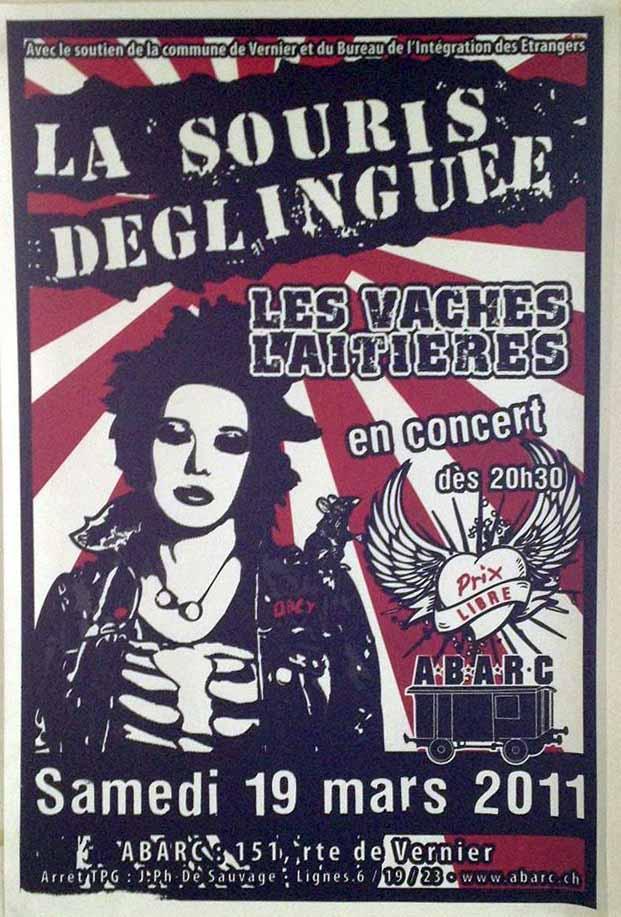 """19 mars 2011 La Souris Deglinguée, les Vaches Laitieres à Vernier """"ABARC"""""""