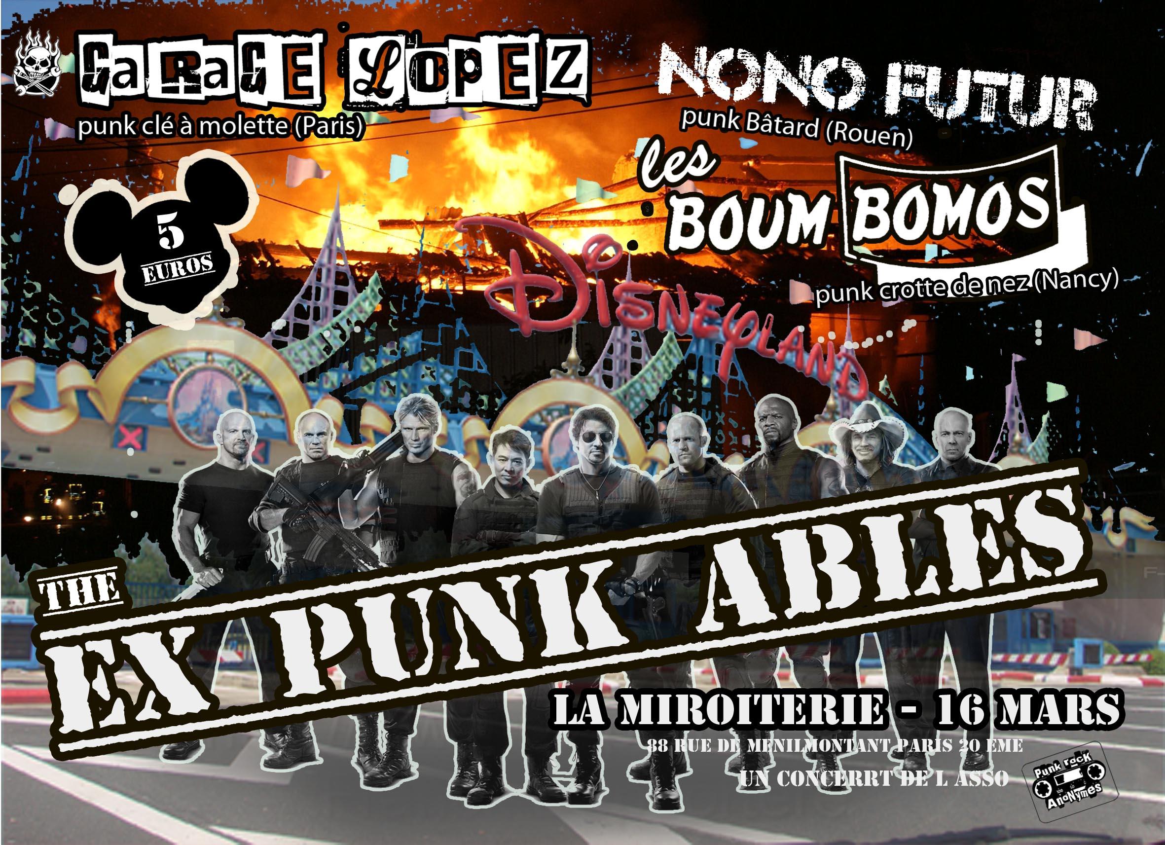 """16 mars 2012 Garage Lopez, Nono Futur, les Boum Bomos à Paris """"La Miroiterie"""""""