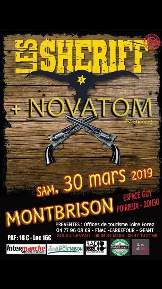 """30 mars 2019 Les Sheriff, Novatom à Montbrison """"Espace Guy Poirieux"""""""