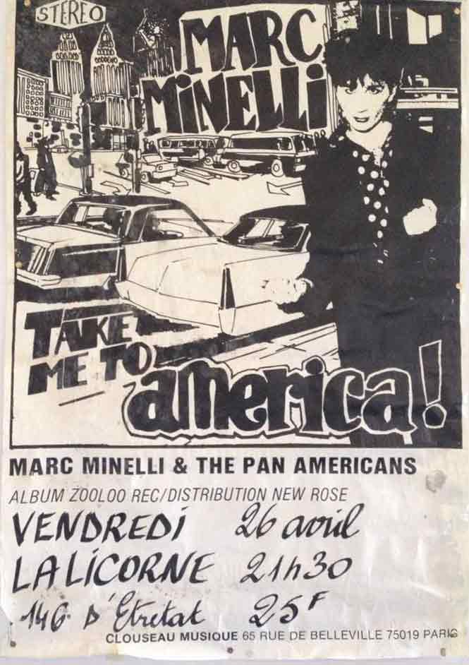 "26 avril 1985 Marc Minelli & the Pan Americans au Havre ""la Licorne"""