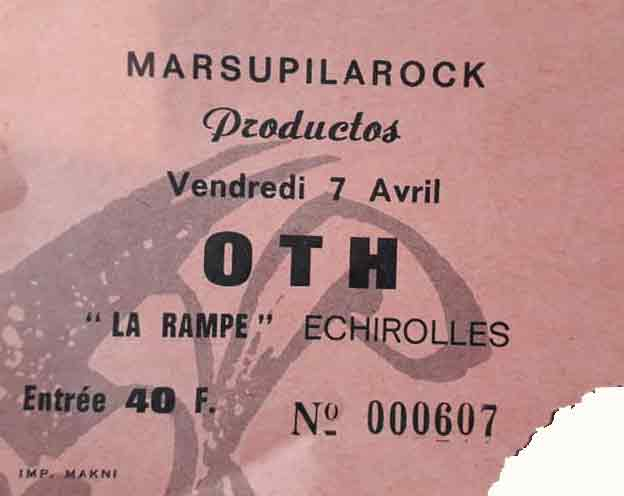 """7 avril 1989 ? OTH, Special Touch à Echirolles """"la Rampe"""""""