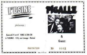 "4 avril 1992 Pigalle à Reims ""Usine"""