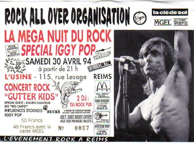 "30 avril 1994 Gutter kids à Reims ""Usine"""