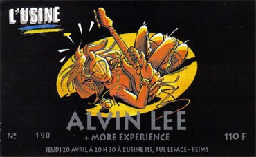 "20 avril 1996 Alvin Lee, More Experience à Reims ""Usine"""