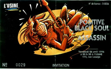"26 avril 1996 Positive Black Soul, Assassin à Reims ""L'Usine"""