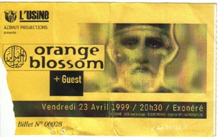 "23 avril 1999 Orange Blossom à Reims ""l'Usine"""