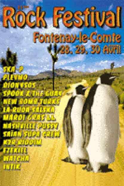 28 avril 2000 K2R Riddim, La Ruda Salska (Annulé), Seven Hate, Watcha, Pleymo à Fontenay le Comte