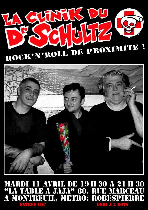 """11 avril 2006 la Clinik du Dr Schultz à Montreuil """"la Table à Jaja"""""""
