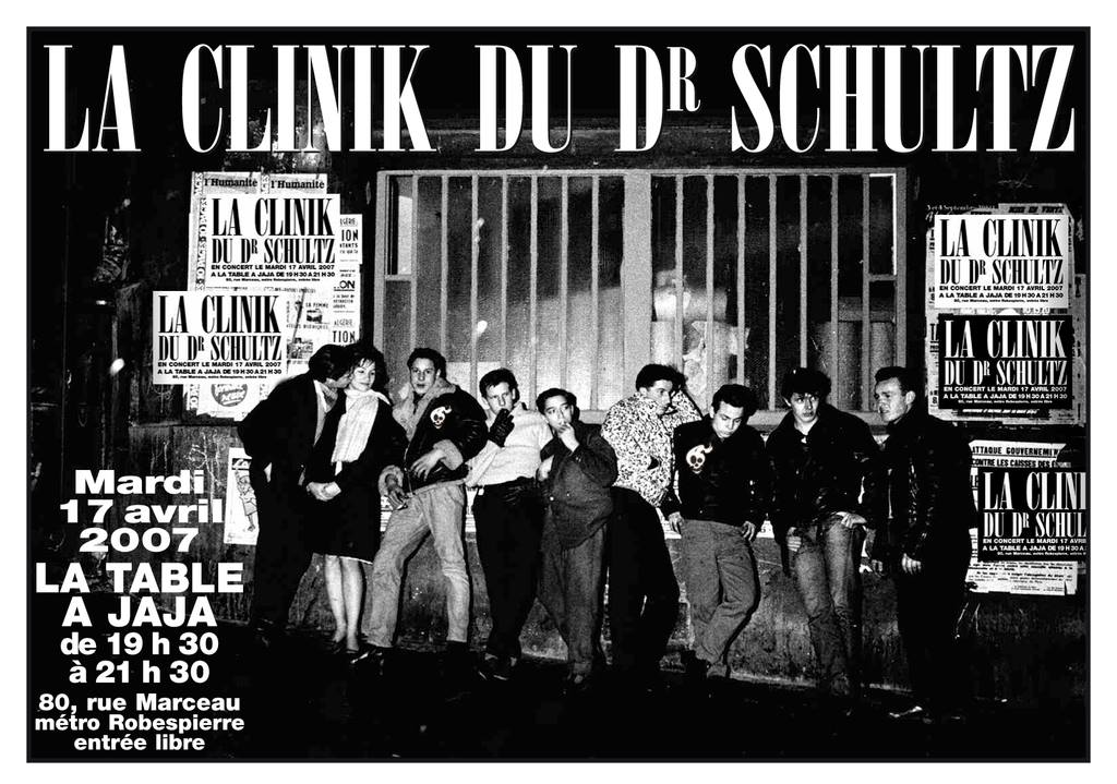 """17 avril 2007 La Clinik du Dr Schultz à Montreuil """"la Table à Jaja"""""""
