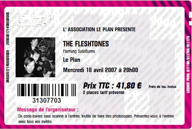 """18 avril 2007 the Fleshtones, Flaming Sideburns à Ris Orangis """"le Plan"""""""