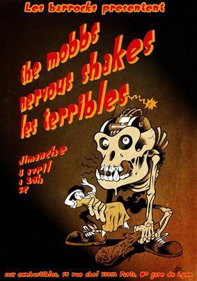 """8 avril 2012 The Mobbs, Nervous Shakes, les Terribles à Paris """"les Combustibles"""""""