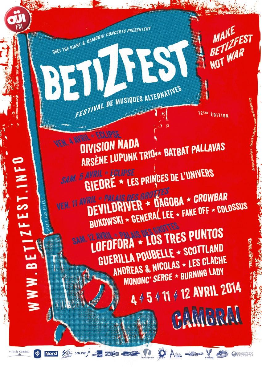 "4 avril 2014 Division Nada, Arsene Lupunk Trio, Bat Bat Palavas à Cambrai ""Chapiteau au Centre Eclipse"""