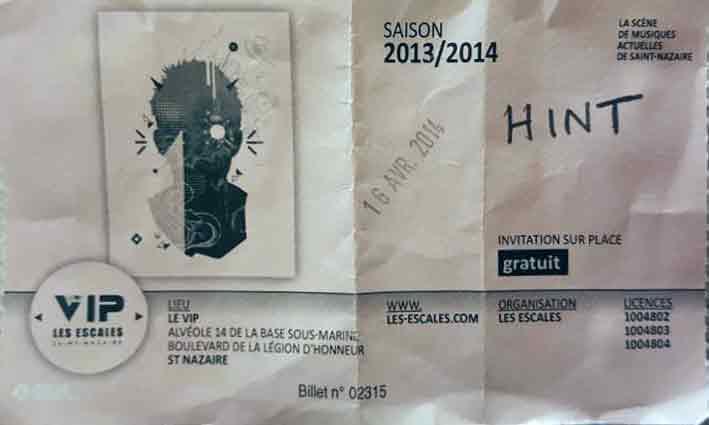 """16 avril 2014 Hint à Saint Nazaire """"VIP"""""""