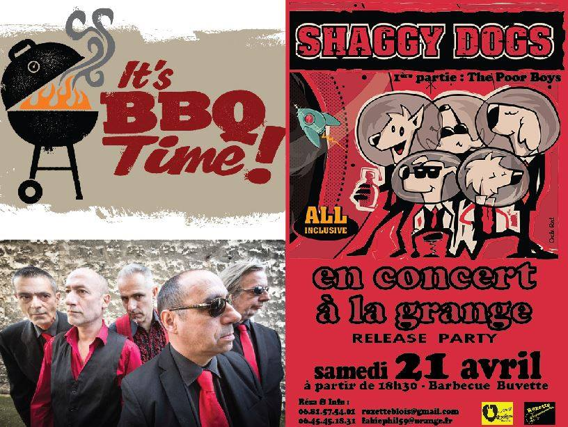 "21 avril 2018 Shaggy Dogs, The Poors Boys à Saint Laurent Nouan ""la Grange"""