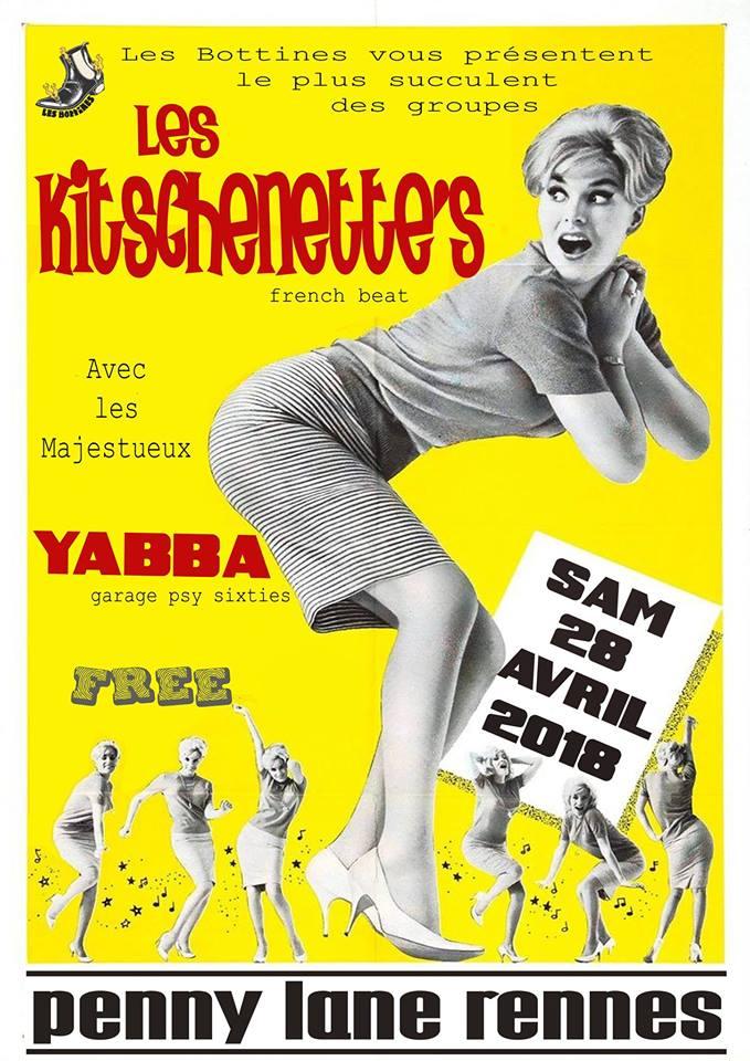 "28 avril 2018 Les Kitschenette's, Yabba à Rennes ""Penny Lane"""